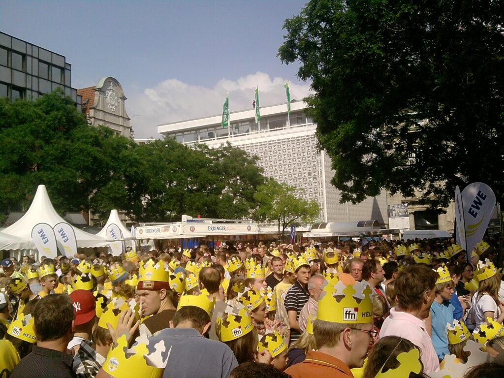 Meisterfeier Marktplatz